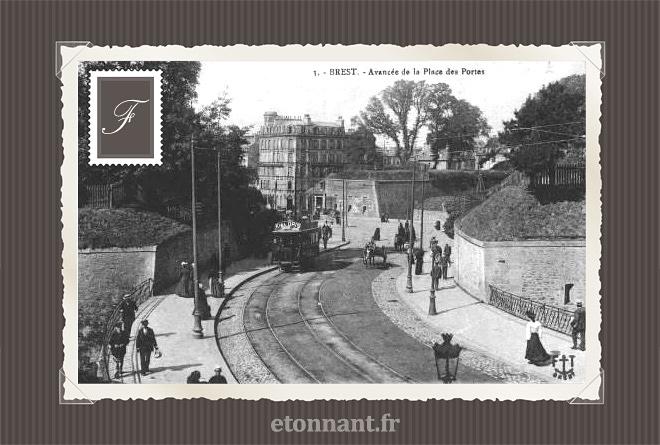Carte postale ancienne de Brest (29 Finistère)