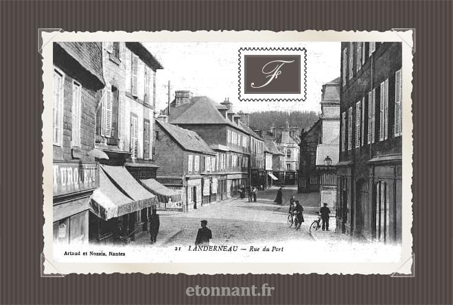 Carte postale ancienne : Landerneau