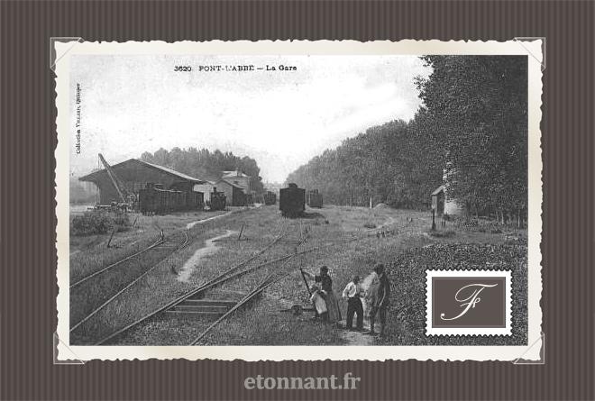 Carte postale ancienne : Pont-l'Abbé