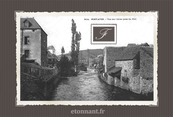Carte postale ancienne : Pont-Aven