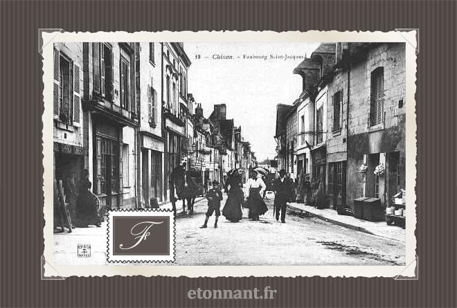 Carte postale ancienne de Chinon (37 Indre et Loire)