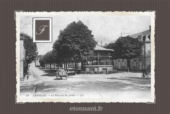 Carte postale ancienne : Langeais