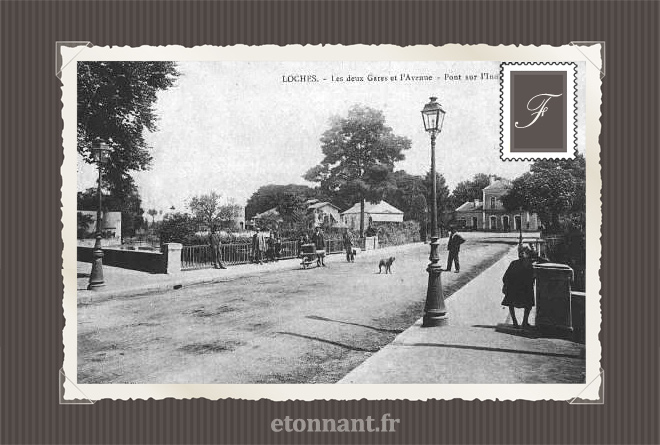 Carte postale ancienne de Loches (37 Indre et Loire)