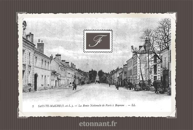 Carte postale ancienne : Sainte-Maure-de-Touraine