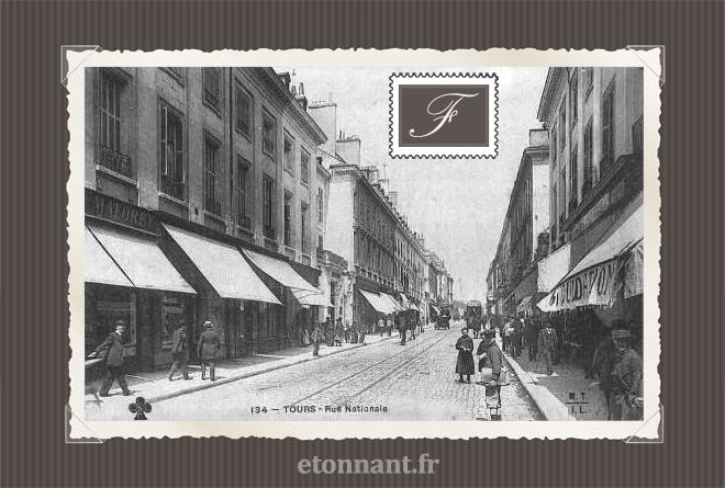Carte postale ancienne de Tours (37 Indre et Loire)