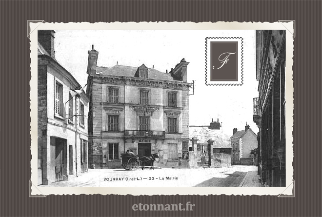 Carte postale ancienne : Vouvray
