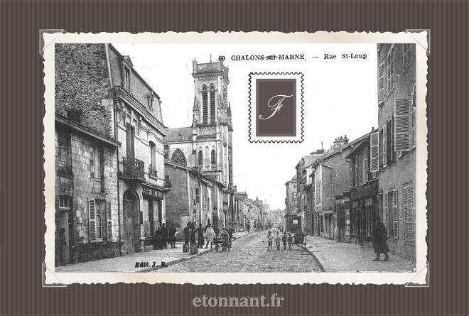 Carte postale ancienne de Châlons-en-Champagne (51 Marne)