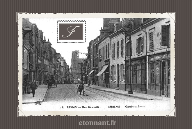 Carte postale ancienne de Reims (51 Marne)