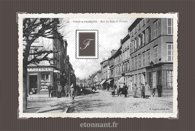 Carte postale ancienne de Vitry-le-François (51 Marne)