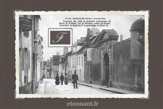 Carte postale ancienne de Mortagne-au-Perche (61 Orne)