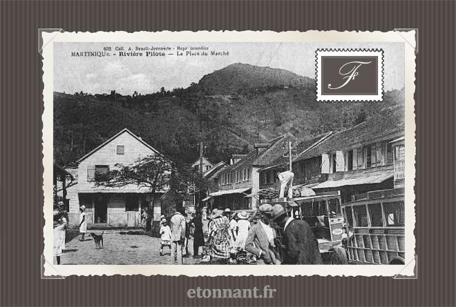 Carte postale ancienne de Rivière-Pilote (972 Martinique)