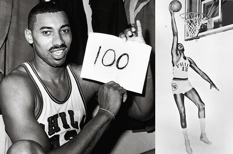 Wilt Chamberlain marque 100 points dans un match de NBA