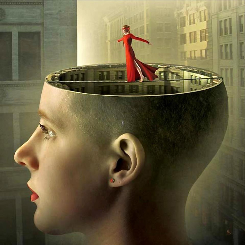 Illustration surréaliste d'Igor Morski