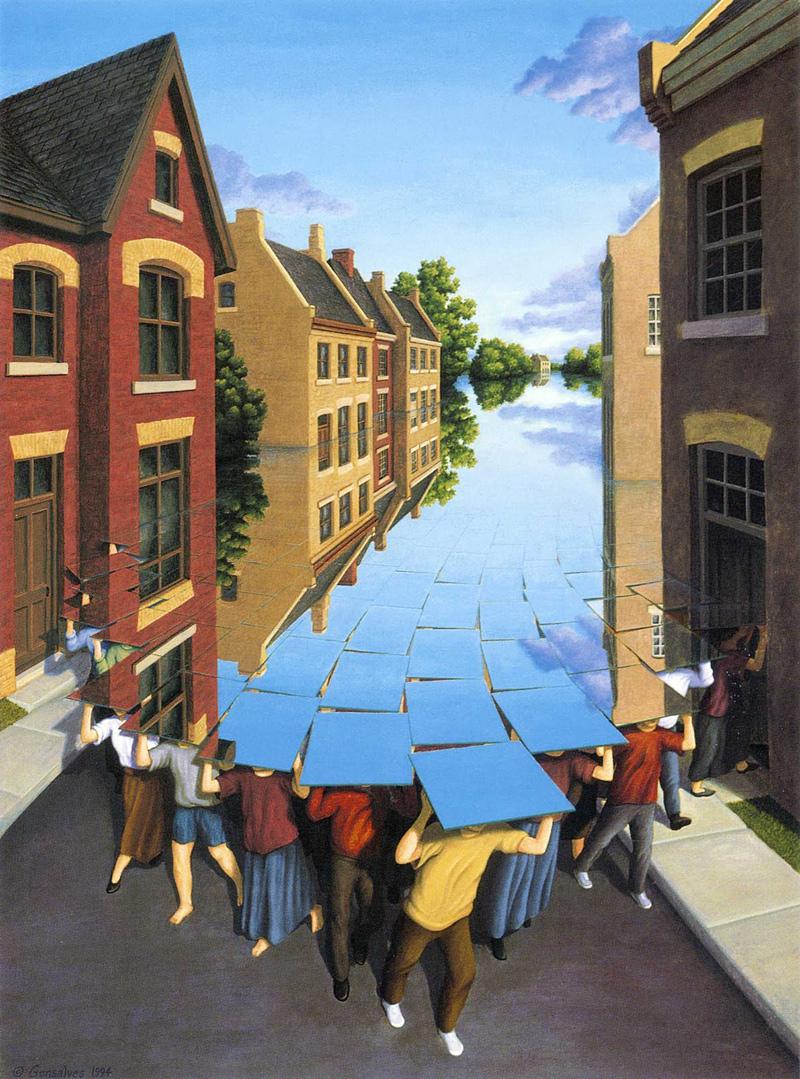 Peinture à illusion d'optique de Rob Gonsalves