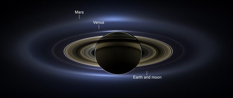 image Nasa de saturne par sonde cassini