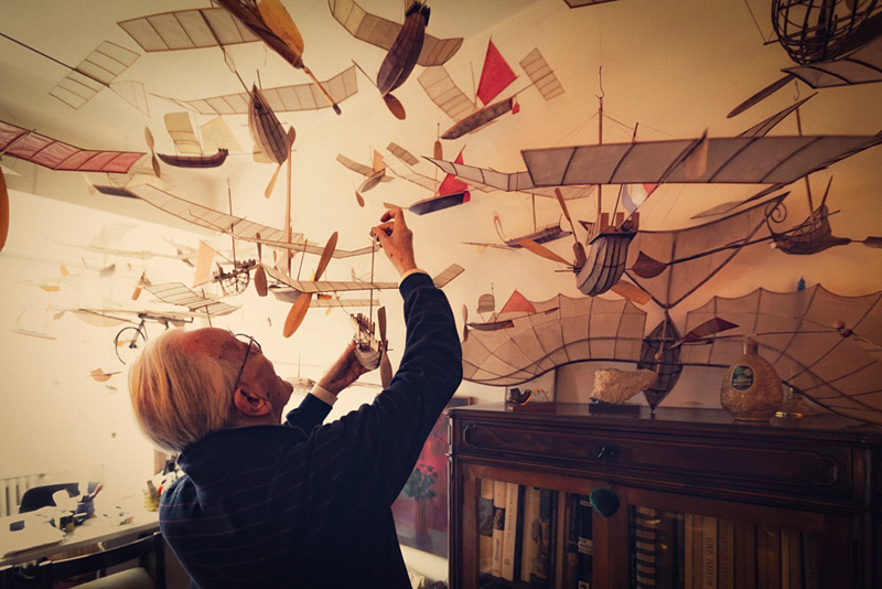 maquette de navire volant
