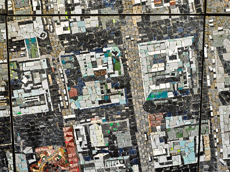 mosaïque représentant une vue aérienne de Johannesburg