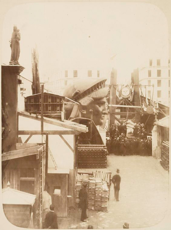 construction de la Statue de la Liberté