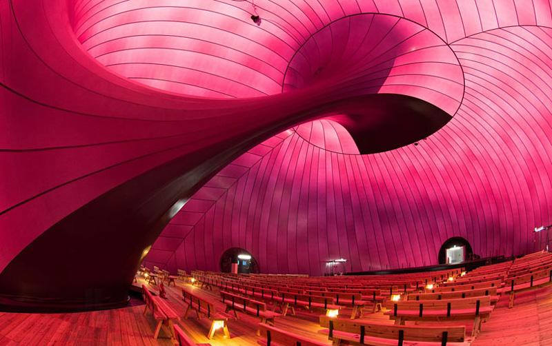 salle de concert gonflable