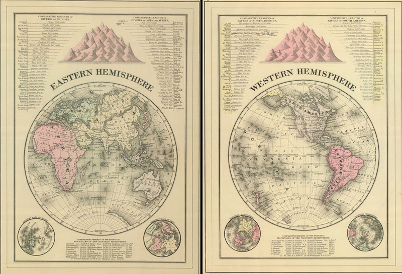 carte d'atlas ancien
