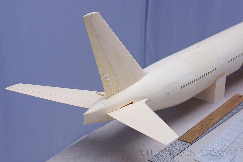 boeing 777 miniature en papier