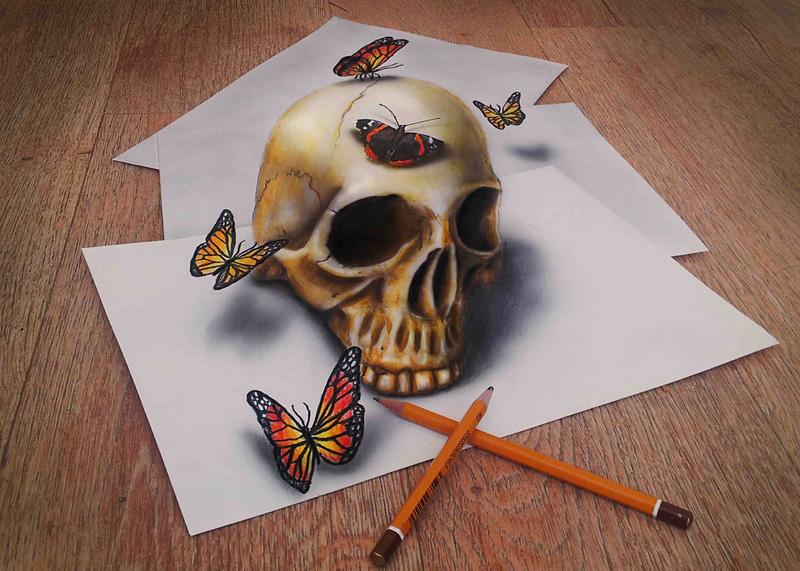 dessin avec illusion 3D de Ramon Bruin