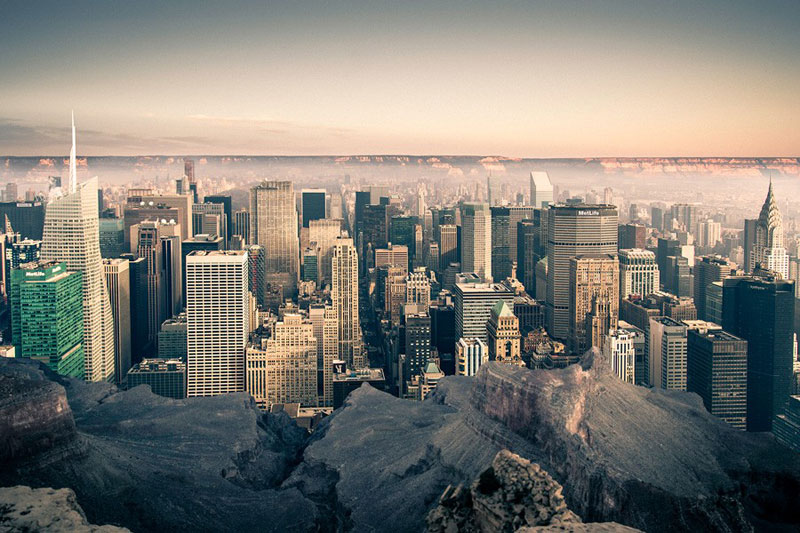 Manhattan dans le Grand Canyon