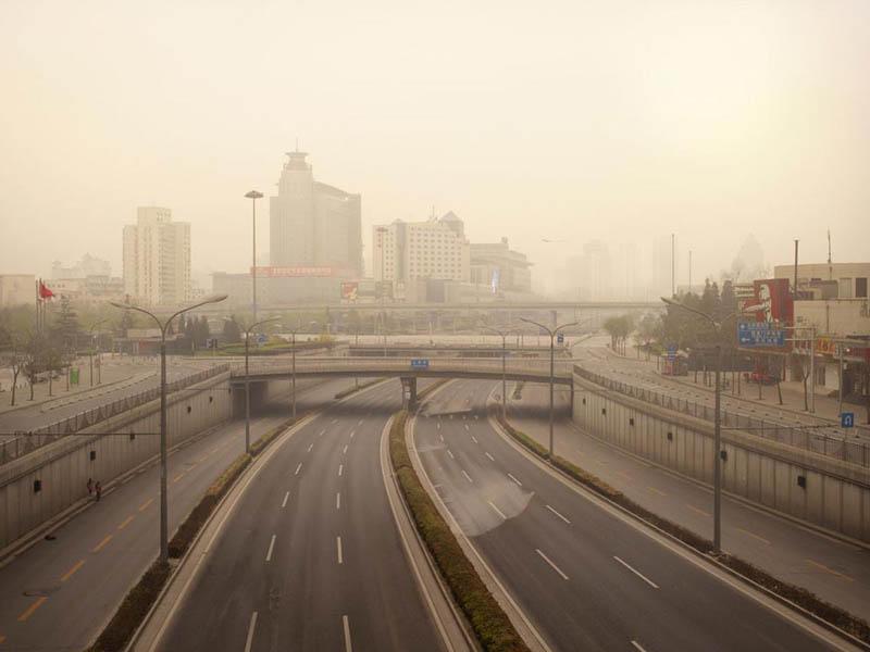 Route Xizhimen vide, Pékin