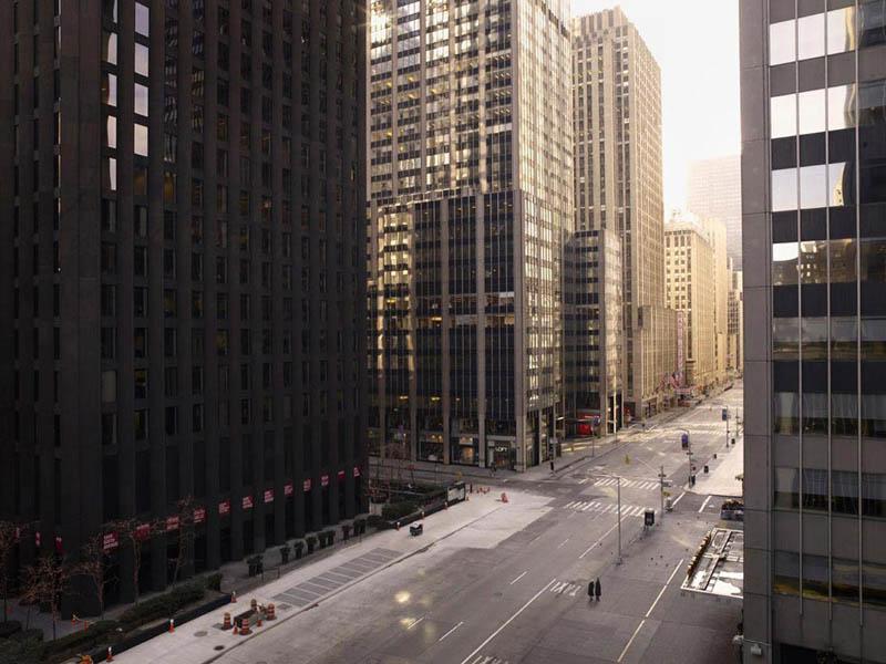 Sixième Avenue vide, New York