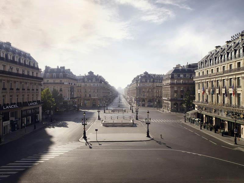 Place de l'Opéra vide, Paris