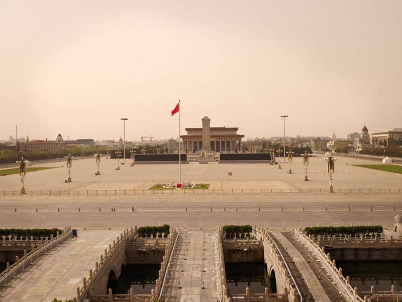 Place Tiananmen vide, Pékin
