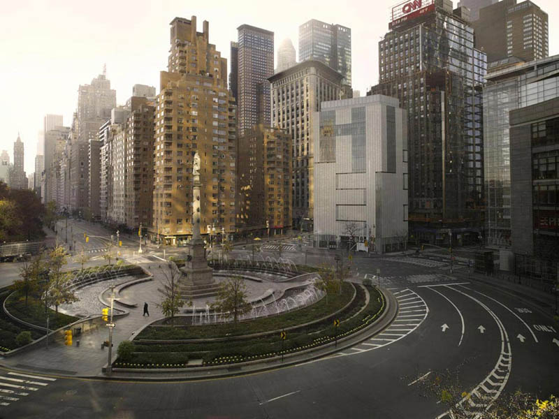 Columbus Circle vide, New York
