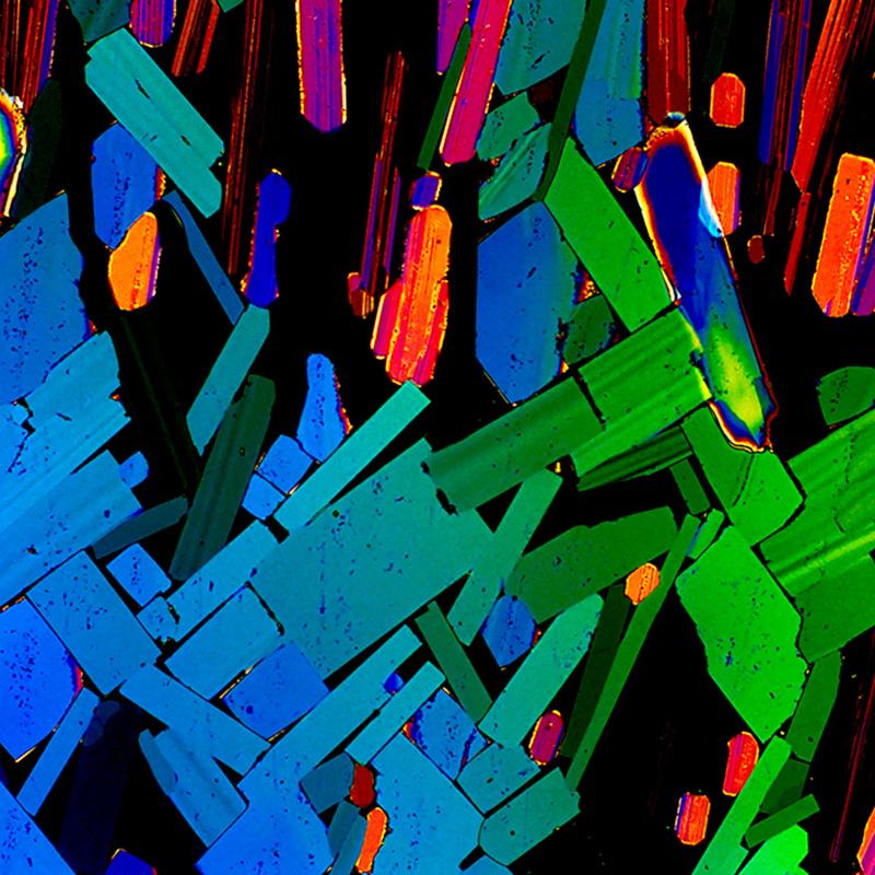 molécule d'alcool au microscope