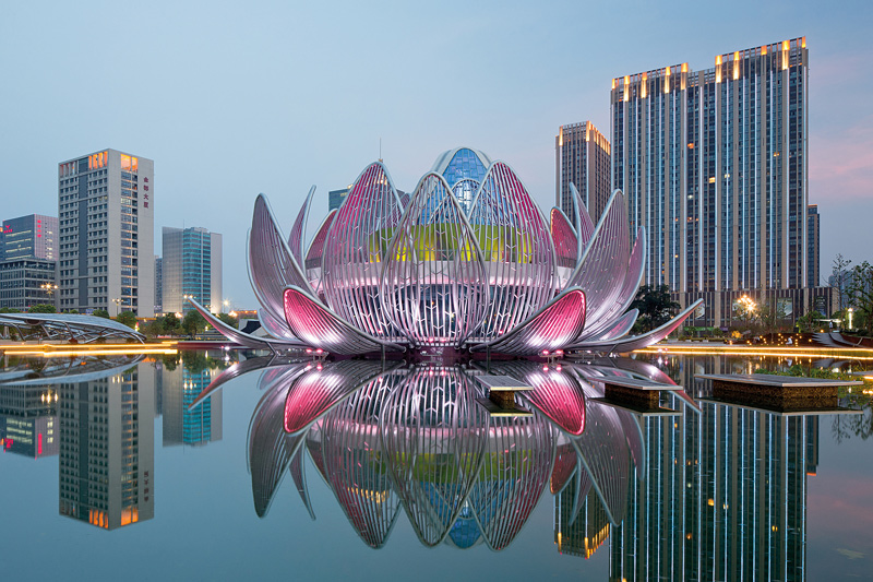 bâtiment en forme de lotus en Chine