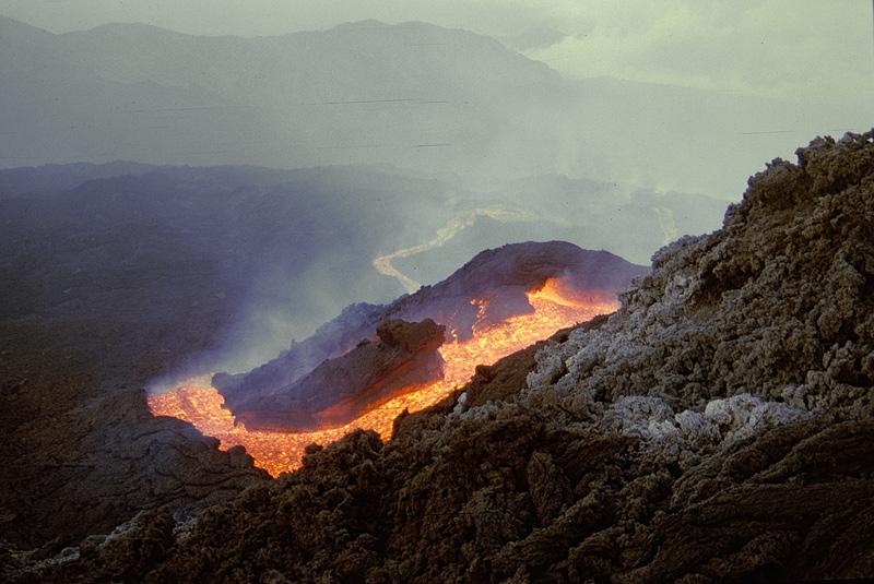 lave du volcan Etna