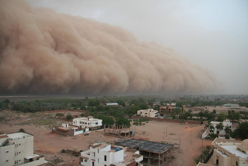 tempête de poussières