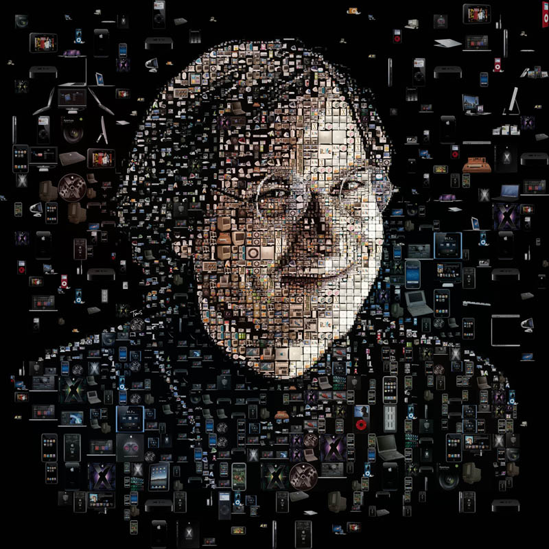 portrait de Steve Jobs