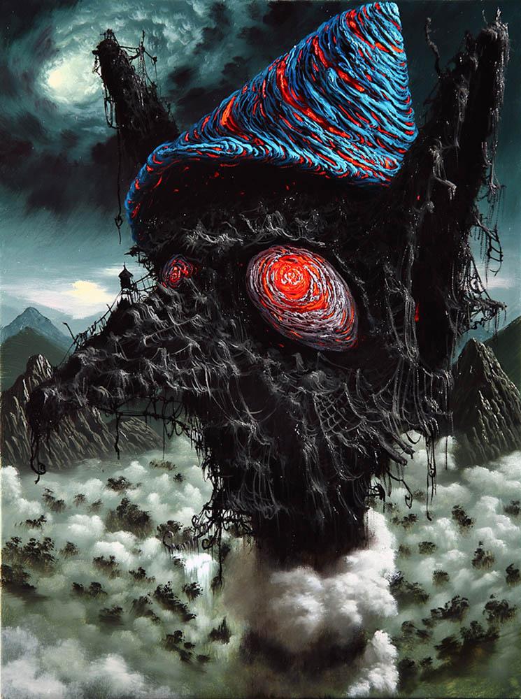 Peinture à l'huile hallucinante