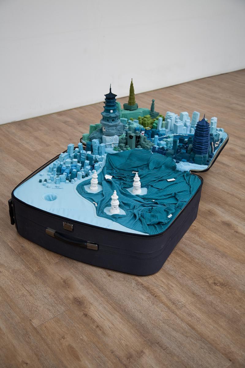 villes portables dans une valise