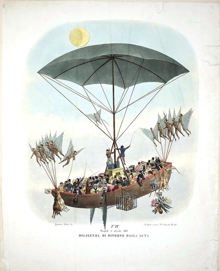 lithographies de 1836 qui représentent la vie sur la lune