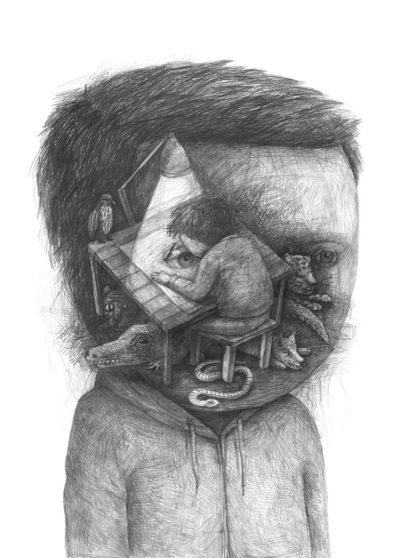 Portraits surréalistes de Stefan Zsaitsits