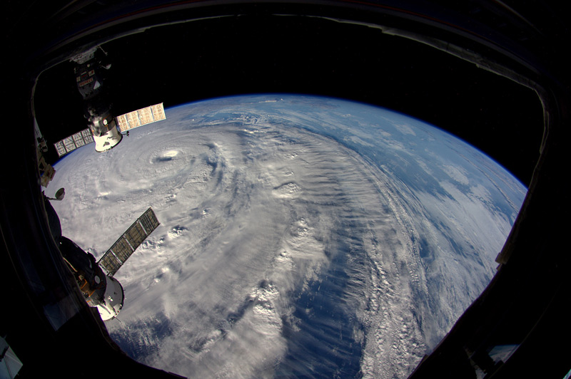 typhon Neoguri vu de l'espace