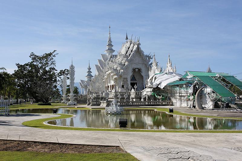 Le Temple Blanc en Thaïlande