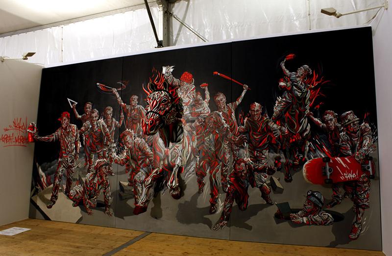 peinture street art en 3D par Shaka