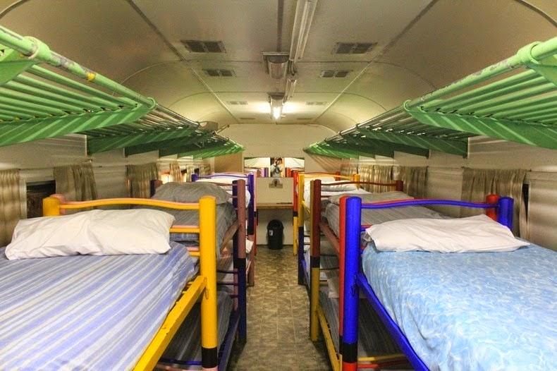 un hôtel dans un train en Afrique du Sud