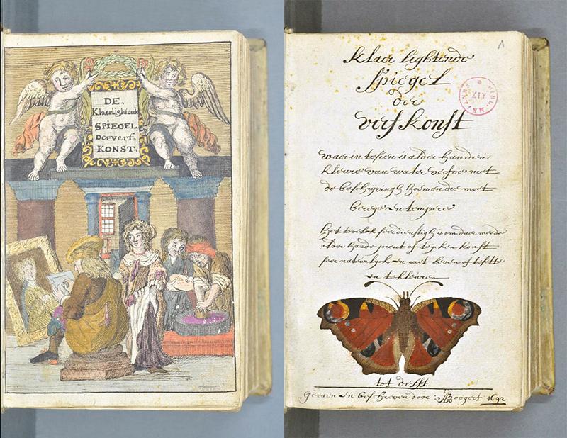 livre ancien représentant toutes les couleurs
