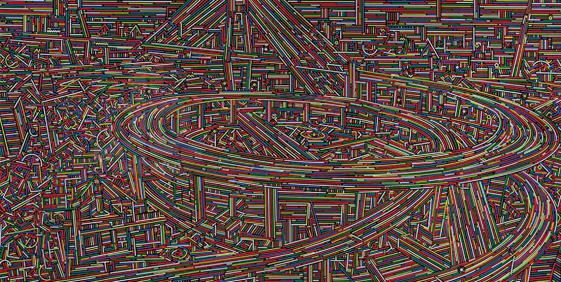 Peintures abstraites de Shangaï