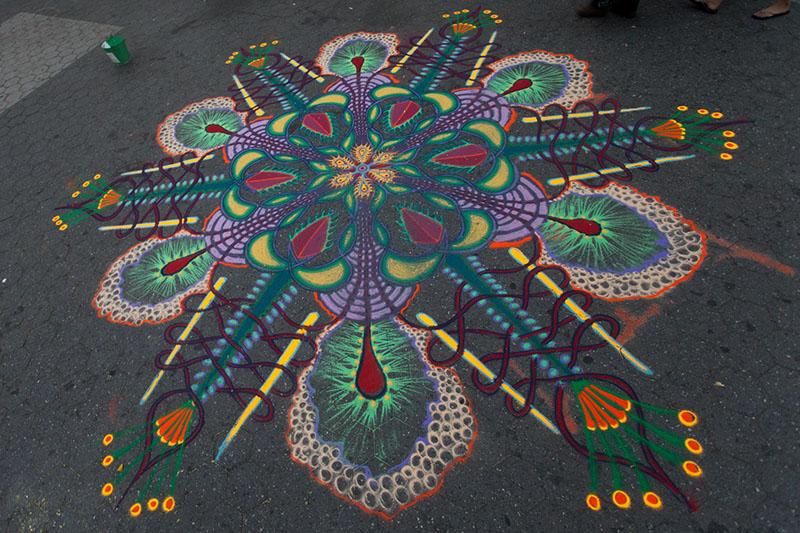 Peintures de sable éphémères par Joe Mangrum