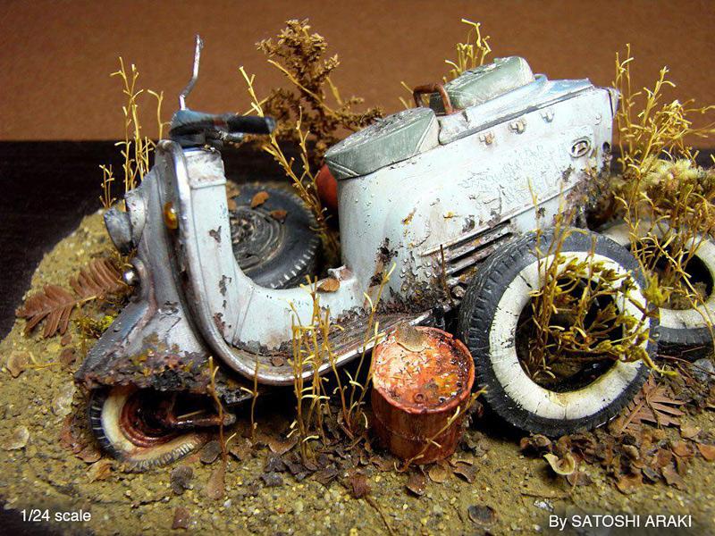 dioramas réalistes de Satoshi Araki