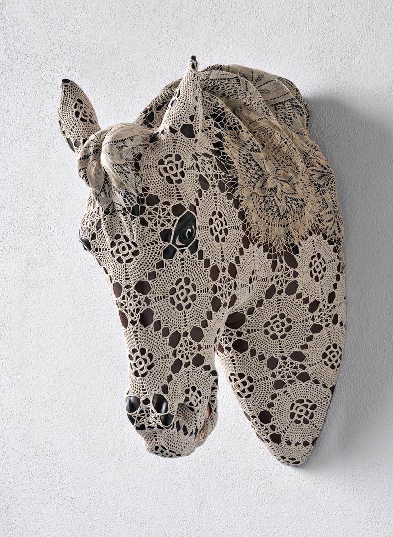 Les animaux en dentelle de Joana Vasconcelos